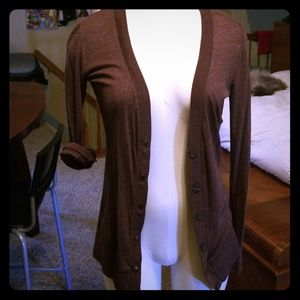 Brown cotton cardigan